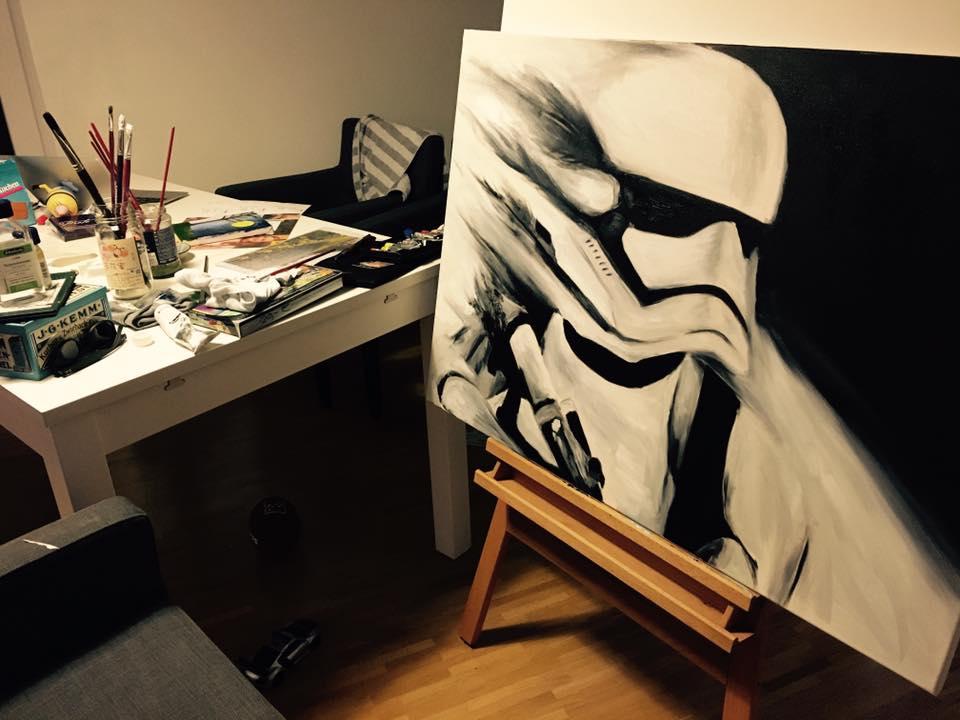 凱若油畫人生 | 第一幅在家裡畫的作品。是真愛無誤!